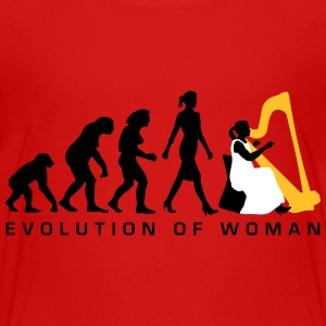 evolution_female_harp_player_112014_b_3c T-Shirts - Teenager Premium T-Shirt