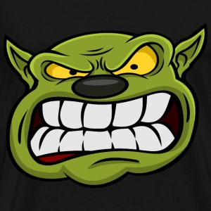 Orc Mascot Head T-Shirts - Men's Premium T-Shirt
