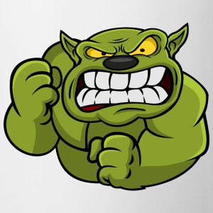 Green Orc Mascot Mugs & Drinkware - Mug