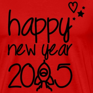 Happy new year 2015 T-skjorter - Premium T-skjorte for menn