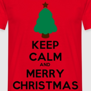 keep calm and merry chris Magliette - Maglietta da uomo
