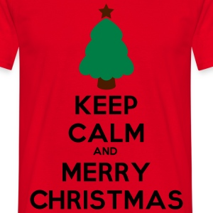 keep calm and merry chris T-Shirts - Koszulka męska
