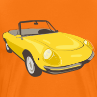 Motiv ~ Yellow Alfa Romeo Spider illustration