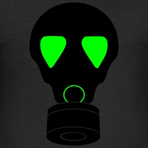 gas mask_vec_3 en T-Shirts - Men's Slim Fit T-Shirt