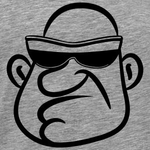 Gangster sunglasses bald T-Shirts - Men's Premium T-Shirt