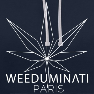 Sweat WEEDUMINATI PARIS - Sweat-shirt contraste
