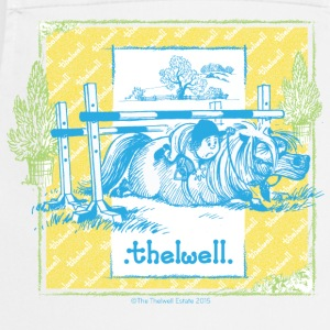 PonyFall blue yellow Thelwell Cartoon Fartuchy - Fartuch kuchenny