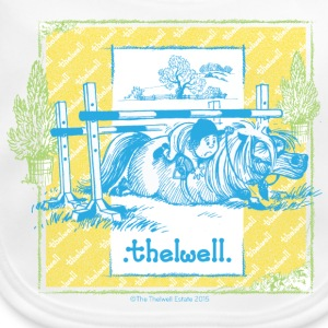 PonyFall blue yellow Thelwell Cartoon Bavaglino neonato - Bavaglino