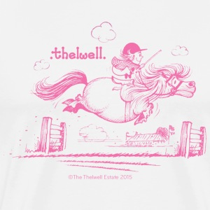 PonyJump Pink Thelwell Cartoon T-Shirts - Men's Premium T-Shirt