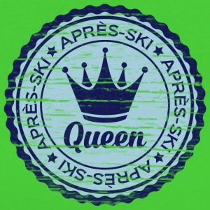 Apresski Queen Grunged Badge Shirt T-Shirts - Frauen Bio-T-Shirt