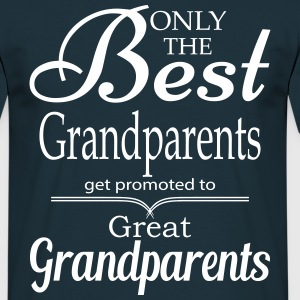 The Best Grandparents Get Promoted to Grandparets T-Shirts - Men's T-Shirt