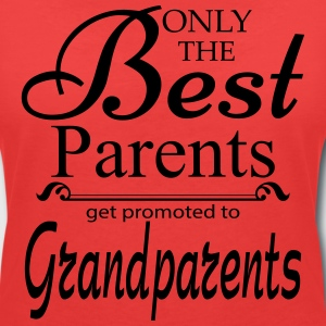 The Best Parents Get Promoted to Grandparents T-Shirts - Women's V-Neck T-Shirt