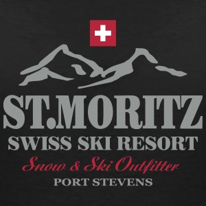 St.Moritz - Ski - Apres - Wintersport T-Shirts - Women's V-Neck T-Shirt