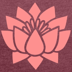 Lotus flower, Symbol of wisdom and enlightenment Tee shirts - T-shirt Femme à manches retroussées