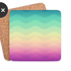 Minimal Geometry Waves (Rainbow) - Phone Case   Mugs & Drinkware - Coasters (set of 4)