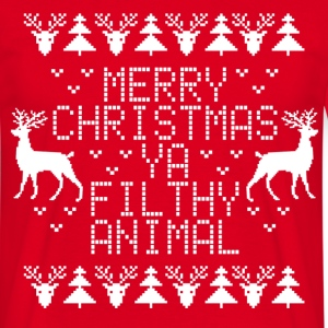 Merry Christmas Ya Filthy Animal T-Shirts - Men's T-Shirt