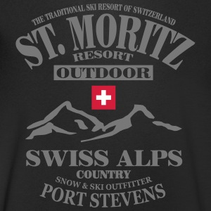 St.Moritz - Ski - Apres - Wintersport T-Shirts - Men's V-Neck T-Shirt