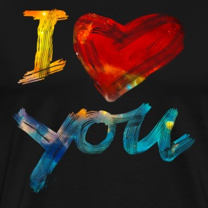 I LOVE YOU, Je t`aime, St. Valentin, amour, ami Tee shirts - T-shirt Premium Homme