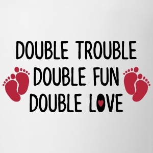 Double trouble - double fun - double love Tassen & Zubehör - Tasse