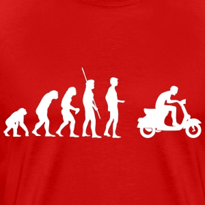 Evolution  Vespa T-Shirts - Men's Premium T-Shirt