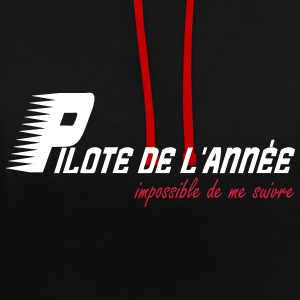 Pilote de l'année impossible de me suivre Sweat-shirts - Sweat-shirt contraste