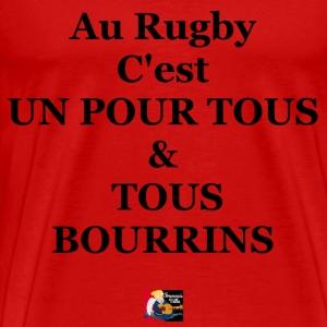 Au rugby c'est UN POUR TOUS et TOUS BOURRINS - Jeu