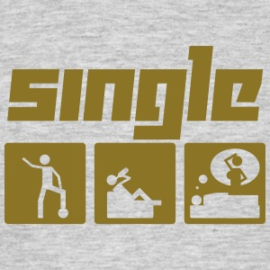 Single (Vektor) - Männer T-Shirt