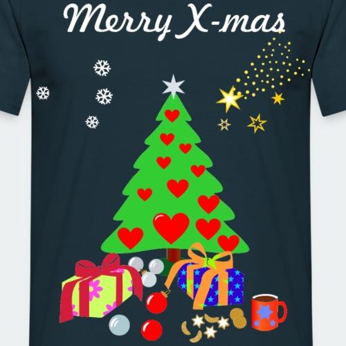 Merry X-Mas Xmas Frohe Weihnachten Komet Tanne