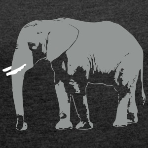 elefant - afrika - safari T-Shirts - Women's T-shirt with rolled up sleeves