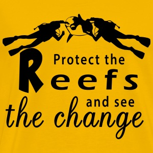 Protect the reefs and see the change T-Shirts - Männer Premium T-Shirt
