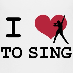 I Love To Sing Shirts - Kids' Premium T-Shirt