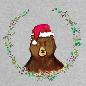Heather grey christmas bear Baby Shirts  - Baby T-Shirt