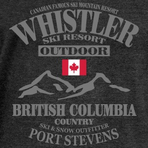 Whistler Ski Resort - Canada Hoodies & Sweatshirts - Women's Boat Neck Long Sleeve Top
