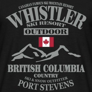 Whistler Ski Resort - Canada T-shirts - Herre-T-shirt