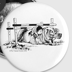 PoneyChute Thelwell Dessin Badges - Badge grand 56 mm