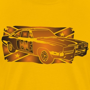 General Lee Dodge Charger Flagge - Männer Premium T-Shirt