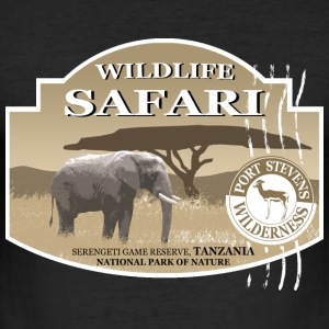 Elefant - Elephant - Safari - Afrika T-Shirts - Männer Slim Fit T-Shirt
