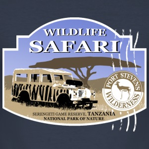 Landrover - Jeep -  Safari - Africa T-shirts - Herre Slim Fit T-Shirt