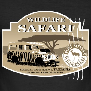 Landrover - Jeep -  Safari - Africa T-shirts - Slim Fit T-shirt herr