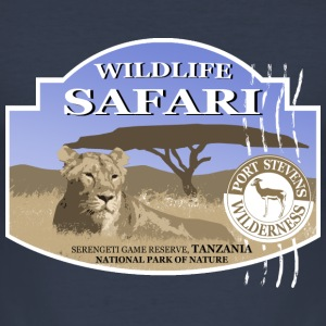 Lion -  Safari - Africa T-Shirts - Men's Slim Fit T-Shirt