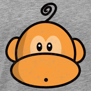 young monkey surprised vintage Tee shirts - T-shirt Premium Homme