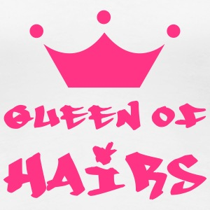 Queen of hairs T-shirts - Premium-T-shirt dam