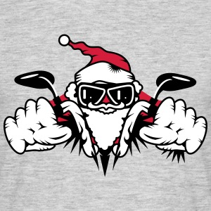 Santa Claus on Motorcycle T-Shirts - Men's T-Shirt