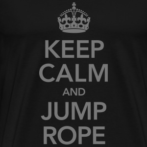 Keep Calm And Jump Rope T-Shirts - Men's Premium T-Shirt