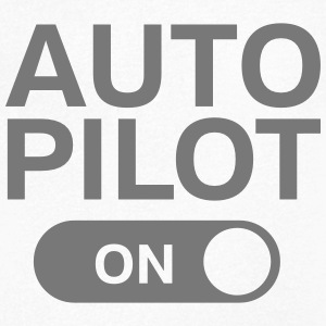 Auto Pilot (on) T-Shirts - Men's V-Neck T-Shirt