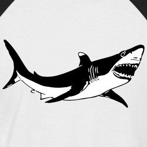 Requin Blanc 2 Couleurs Tee shirts - T-shirt baseball manches courtes Homme