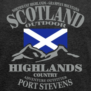 Scotland - Highlands T-Shirts - Women's T-shirt with rolled up sleeves