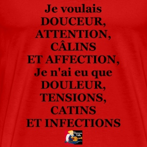 Je voulais DOUCEUR, ATTENTION, CÂLINS ET AFFECTION Tee shirts - T-shirt Premium Homme