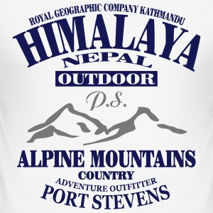 Himalaya  - Alpine Mountains T-shirts - Herre Slim Fit T-Shirt