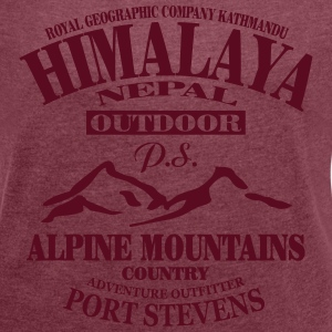 Himalaya  - Alpine Mountains T-Shirts - Women's T-shirt with rolled up sleeves